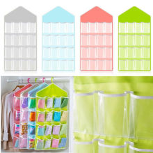 16 Pockets Hanging Storage Clear Over Door Hanger Bag Organizer Shoe Rack Tool