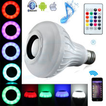 12W E27 LED RGB Light Wireless Bluetooth Speaker Music Playing Lamp Smart Bulb