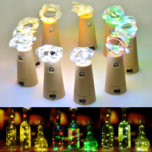 15 LED Cork Shaped LED Night Starry Light Wine Bottle Lamp for Birthday Party