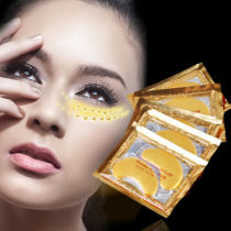 2pcs Gold Crystal collagen Eye Mask Anti Aging Wrinkle Dark Circle Eye Patches