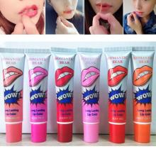 6pcs Peel Off Mask Tint Lip Gloss TATTOO Magic Color Long Lasting Waterproof
