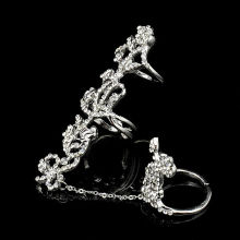 Multiple Finger Stack Knuckle Band Crystal Set Womens Fashion Jewelry Gift