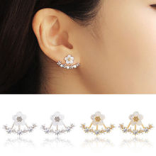 1 Pair Women Crystal Rhinestone Ear Stud Daisy Flower Earrings Jewelry