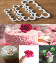 Silicone 3D Rose Flower Fondant Cake Chocolate Sugarcraft Chic Mould Decor Tool