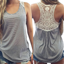Sexy Women Summer Lace Vest Top Sleeveless Casual Tank Blouse Tops T-Shirt New
