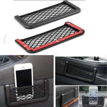 Hot Auto Car Storage Net Resilient String Black Bag Phone Coins Pocket Organizer