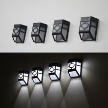 1pc Solar Powered Wall Mount LED Light Outdoor Garden Path/Landscape Fence Yard Lamp