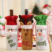 New Christmas Santa Wine Bottle Gift Bag Ornaments Cover Xmas Home Party Decor