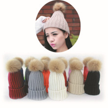 Women Winter Braided Crochet Wool Knit Beanie Beret Ski Ball Cap Baggy Warm Hat