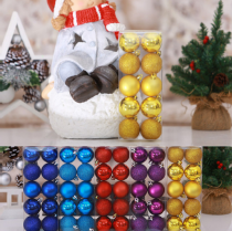 10Pcs Christmas Glitter Bauble Ball Xmas Tree Party Hanging Decoration Ornament