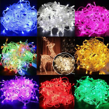 10M 100LED Christmas Tree Fairy String Party Lights Waterproof Xmas 110V US PLUG