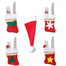 Xmas Santa Holder Dinner Table Cutlery Silverware Bag Pockets Decor Socks