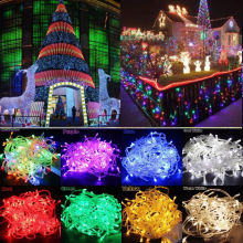 10M 100LED Warm White String Fairy Wedding Light Lamp Christmas Xmas Party Decor