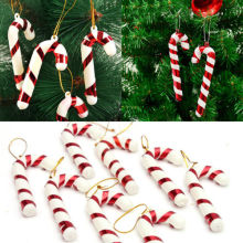 12pcs Xmas Tree Candy Cane Hanging Ornament Decoration Christmas Home Party Decor