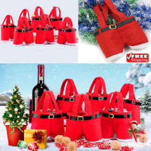 Christmas-Xmas Gift Bag Red Santa Pants -Treat Candy Bags-Tree Decoration Party