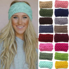 Winter Women Ear Warmer Headwrap Trendy Crochet Headband Knit Flower Hairband