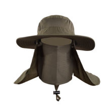 Outdoor Unisex Brim Sun Block Quick Drying Fishing Sun Cap Climbing Bucket Hat