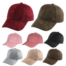 Fashion Men Women Suede Baseball Cap Snapback Visor Sport Sun Adjustable Hat