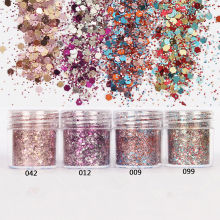 Trendy 40ml Nail Art Glitter Powder Dust Pink Rose Red Mixed Sequins Decoration