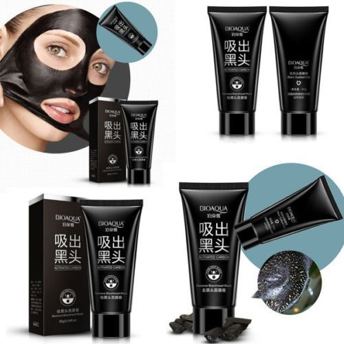Activated Carbon Blackhead Remover Deep Clean Purifying Peel Black Mud Face Mask