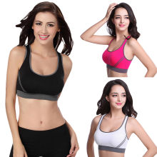 Yoga Sports Fitness Stretch Workout Tank Top Seamless Racerback Padded Bra Women