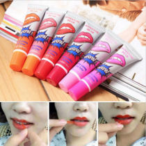 6 Color Makeup Lipstick Liquid Tint Long Lasting Lip Gloss Tattoo Pack Wow Lips