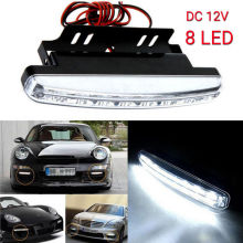 1Pc White 8LED Daytime Running Light Daylight /Lamp DRL Kit Parking Fog Car 12V