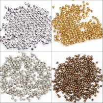 500pcs Silver/Golden Plated Round Spacer Beads For Jewelry Making DIY 2mm