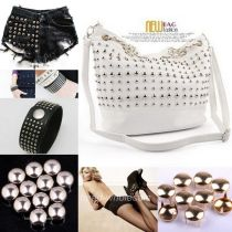 200pcs Punk Style Round Cone Stud Rivet Spike Nailhead For Bags/Shoes/Costume Silver/Gold 6mm