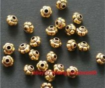 50 Pcs Antique Golden Lantern Shaped Zinc Alloy Metal Spacer Beads Finding 5*4mm