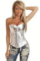 Cheap The New Palace retro zipper Slim curve gather breast care women leather corsets