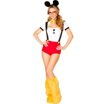 Lovely Black White red yellow Four colors Mickey loaded COS Costume