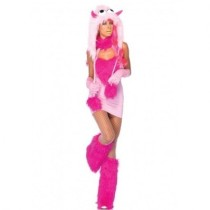 Pink Animal Furry Monster Costume