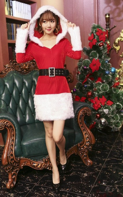 Womens Sexy Naughty Santa Costume