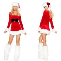 Lovely elegant long-sleeved quality Christmas Costumes