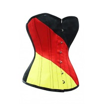 German Flag Corset Top with black