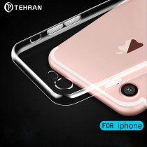Fundas Transparente para Apple iPhone 5 6 6s 7 8 X con Tacto de Suave