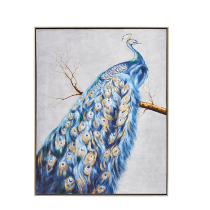 Peacock Oil Painting Print on Canvas