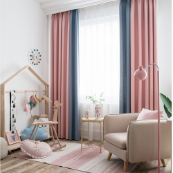 simple modern solid cotton and linen living room bedroom thickened shade finished curtains