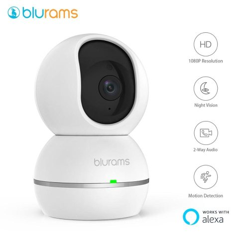 blurams 1080p Dome Security Camera Home Security Surveillance Pet Cam for Home/Office/Baby/Nanny/Pet Monitor