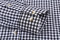 Mens Button Down Cotton Plaid Washed Regular fit Long Sleeve Shirt Black/White