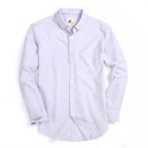 Alex Vando Mens Button Down Regular fit Long-sleeve Oxford Casual Shirt Purple