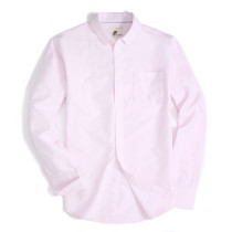 Alex Vando Mens Button Down Regular fit Long-sleeve Oxford Casual Shirt Pink