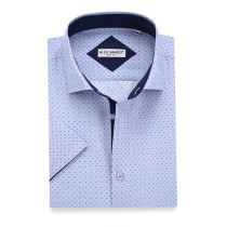Mens Printed Casual Short Sleeve Dress Shirts