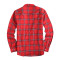 Mens Casual Button Down Regular Fit Long Sleeve Flannel Shirts Red255