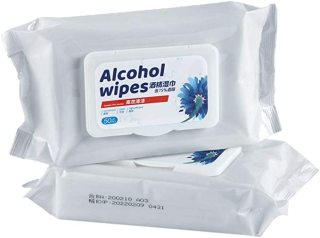 Alcohol Detergent Wet Wipes, 75% Alcohol Wet Wipes Suitable for All-Purpose Cleaning (1pack 50Pieces)