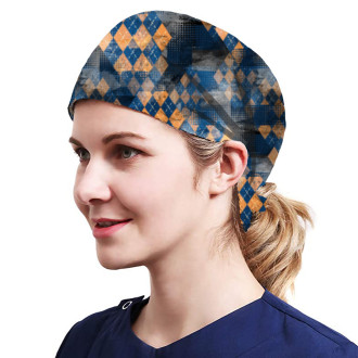 One Size Working Cap with Sweatband Adjustable Tie Back Hats Printed for Women,Print10