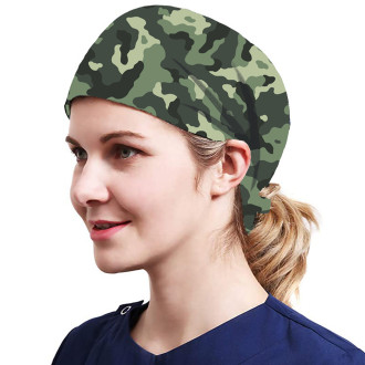 One Size Working Cap with Sweatband Adjustable Tie Back Hats Printed for Women,Print17