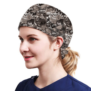 One Size Working Cap with Sweatband Adjustable Tie Back Hats Printed for Women,Print12