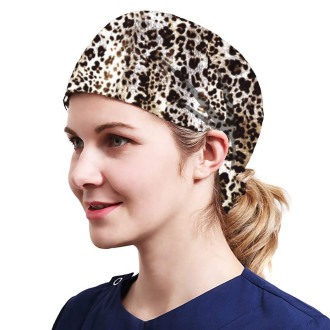 One Size Working Cap with Sweatband Adjustable Tie Back Hats Printed for Women,Print08